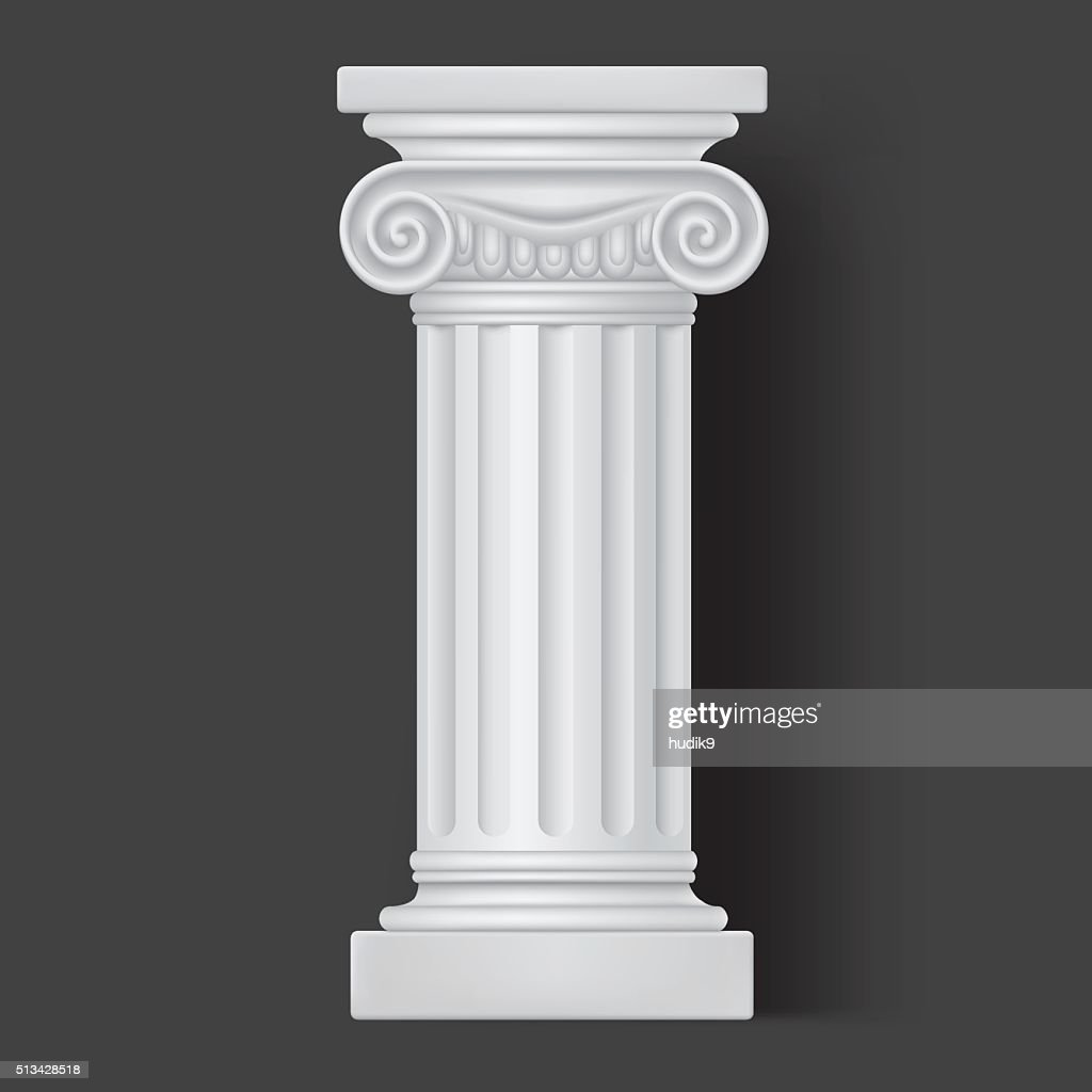 Roman vector white column icon