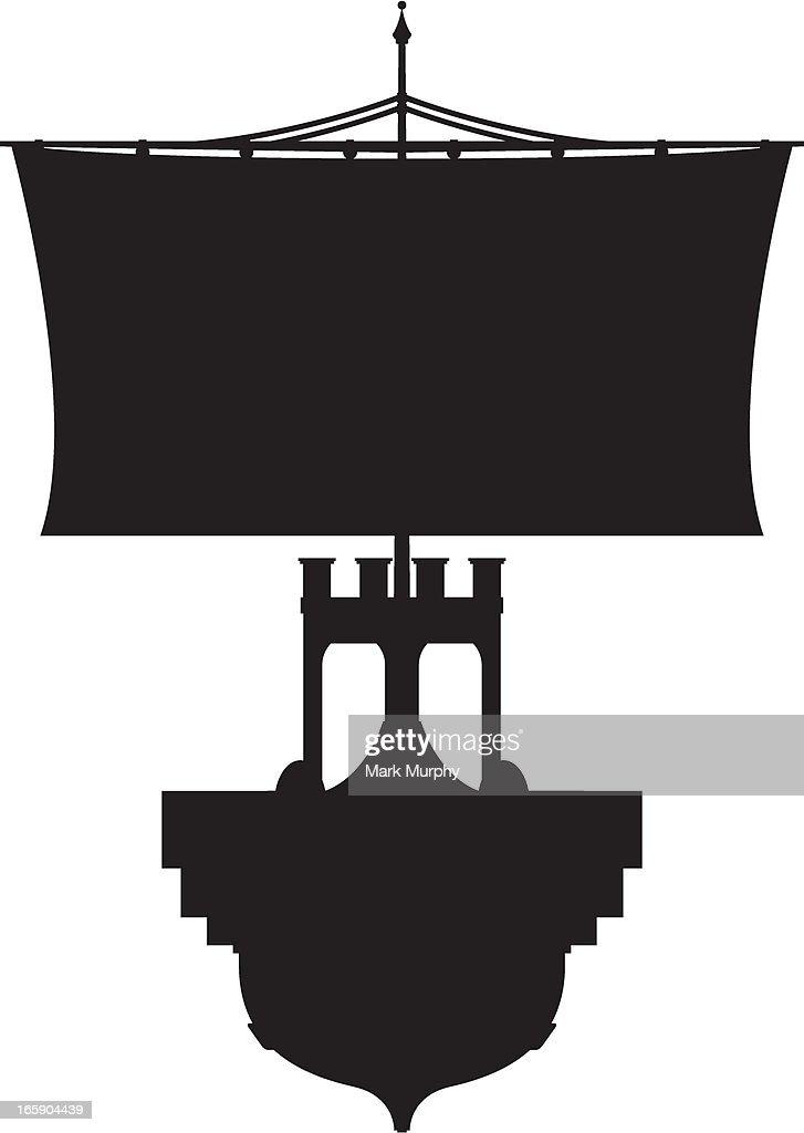 Roman Warship in Silhouette