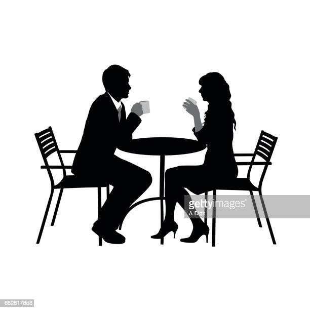 romance over coffee - girlfriend stock illustrations, clip art, cartoons, & icons