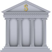 Roman/Greek Temple bank symbol