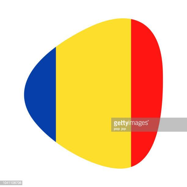 Romania - Abstract Flag Vector Flat Icon