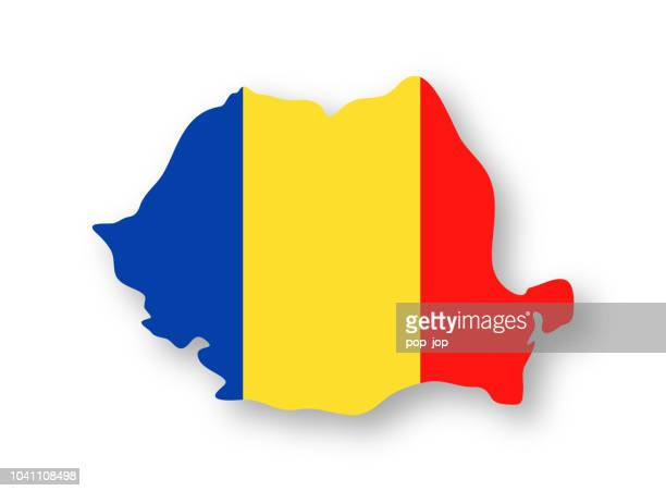 Romania - Contour Country Flag Vector Flat Icon