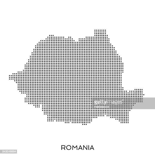 rumänien halbtonmuster karte pünktchenmuster - rumänien stock-grafiken, -clipart, -cartoons und -symbole