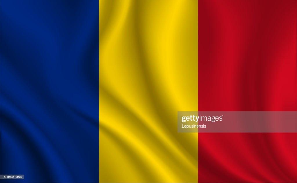 Romania flag background