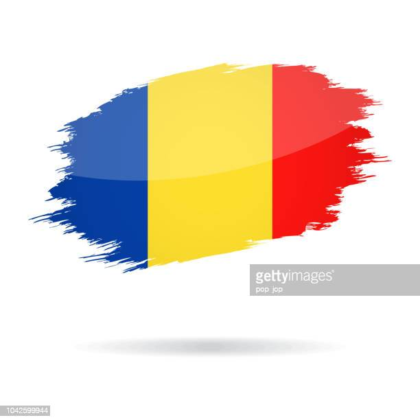 Romania - Grunge Flag Vector Glossy Icon