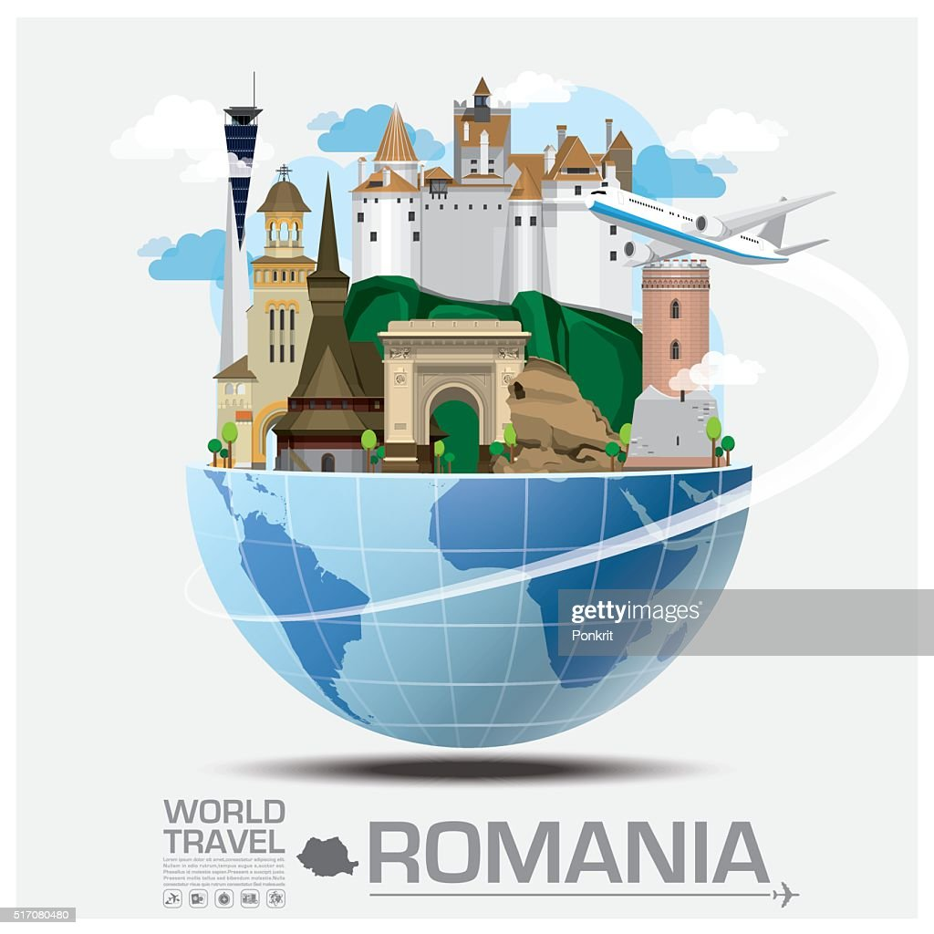 Romania Landmark Global Travel And Journey Infographic