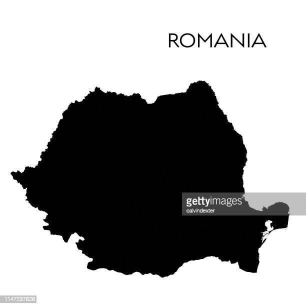 romania map - romania stock illustrations