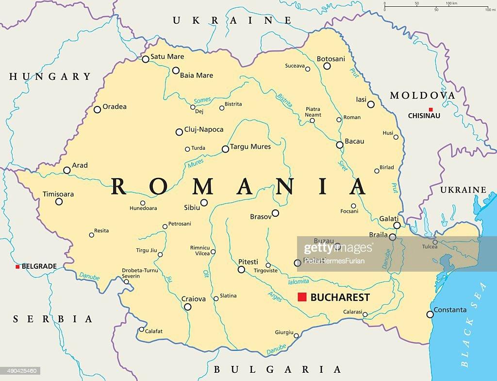 Romania Political Map
