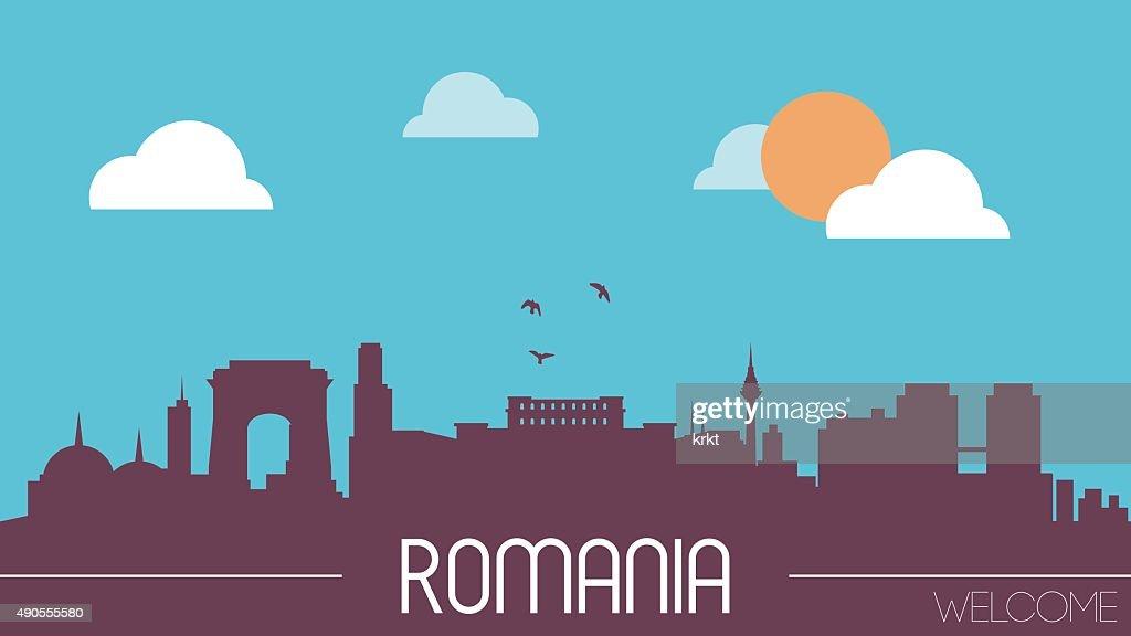 Romania skyline silhouette