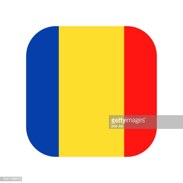 Romania - Square Flag Vector Flat Icon