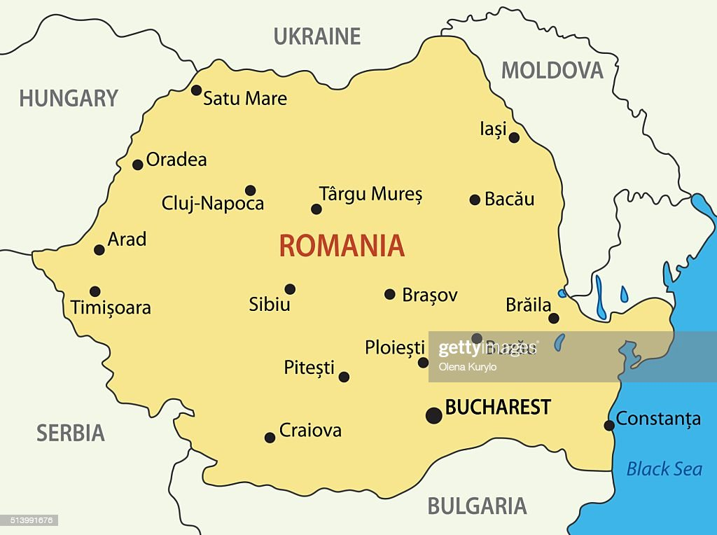 Romania - vector map