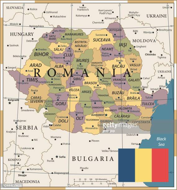 20 - Romania - Vintage Color Dark