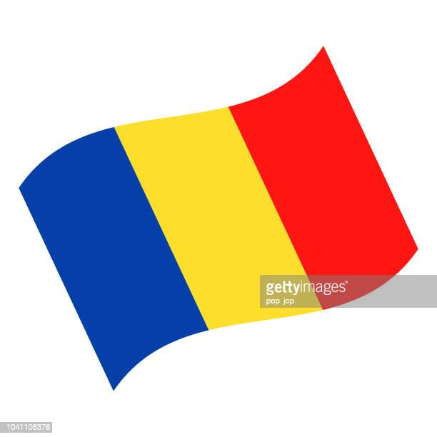 Romania - Waving Flag Vector Flat Icon