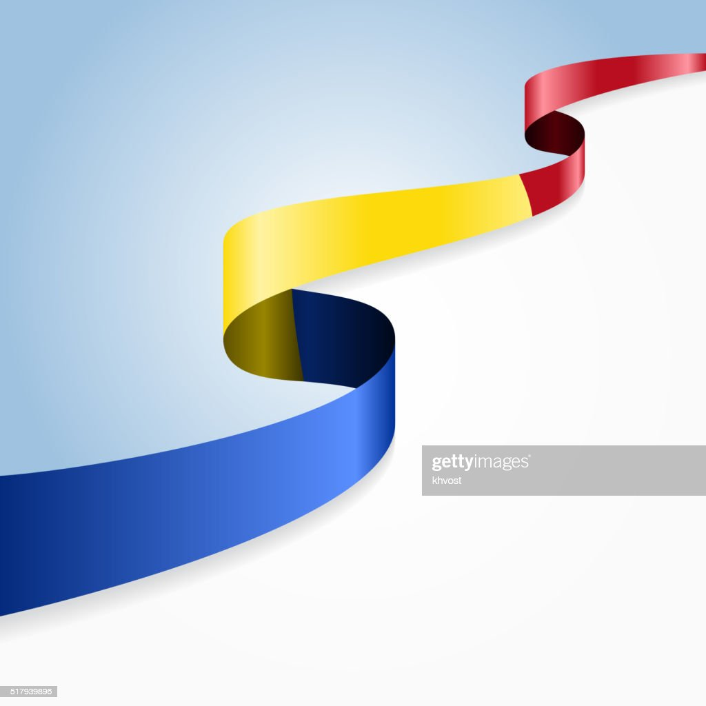 Romanian flag background. Vector illustration