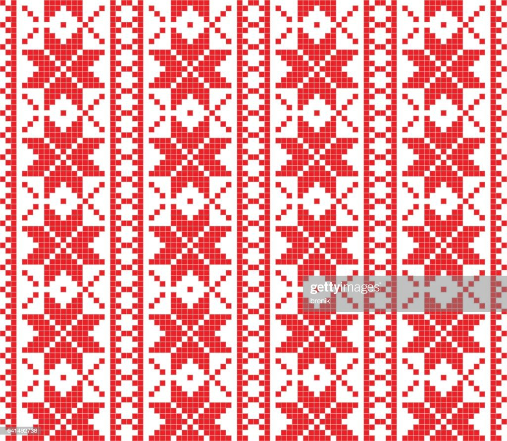 Romanian knitted embroidery pattern