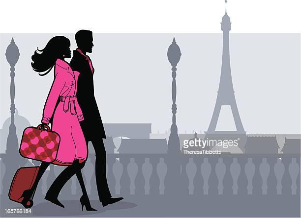 romantic break - honeymoon stock illustrations, clip art, cartoons, & icons