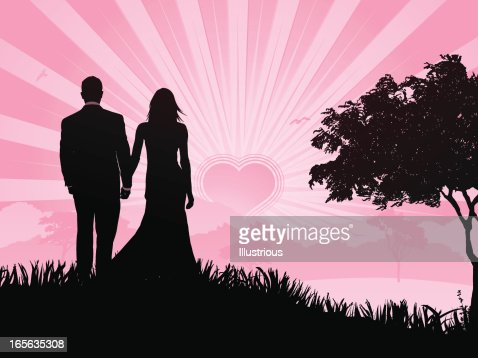Romantic Couple On Valentines Day Vector Art | Getty Images