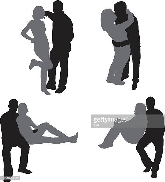 romantic couple - adult stock illustrations