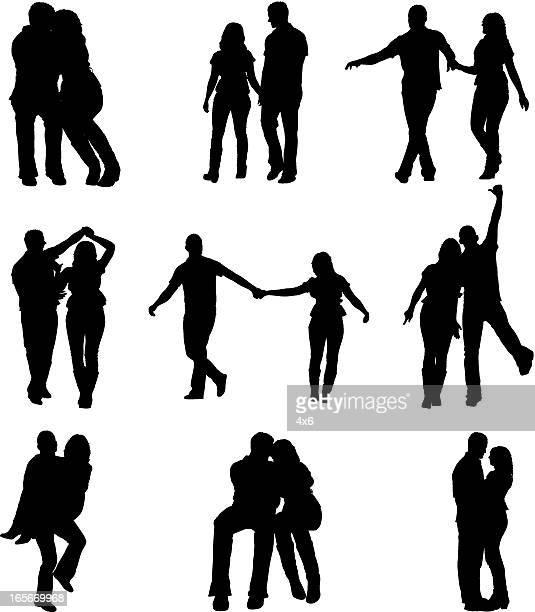ilustraciones, imágenes clip art, dibujos animados e iconos de stock de las parejas románticas - pareja