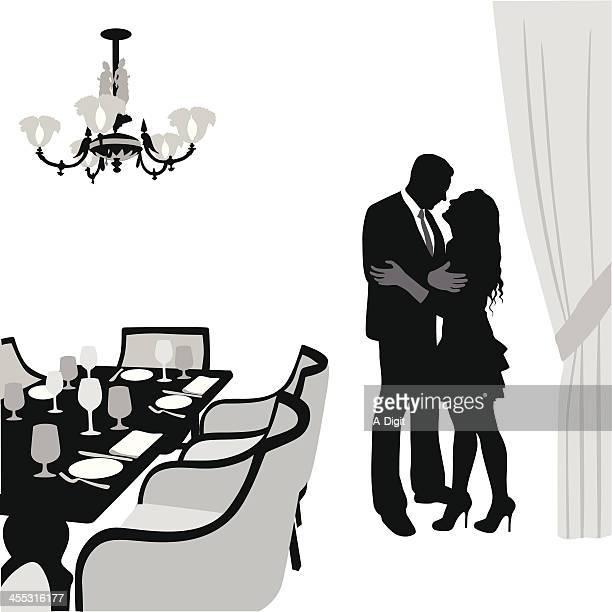 romanticdining - social grace stock-grafiken, -clipart, -cartoons und -symbole