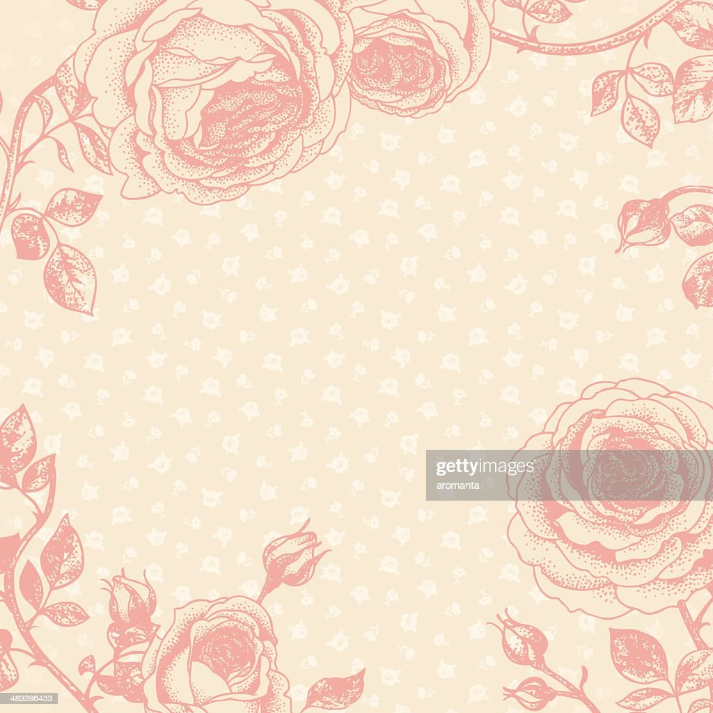 Romantic floral background