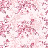 Romantic floral pattern
