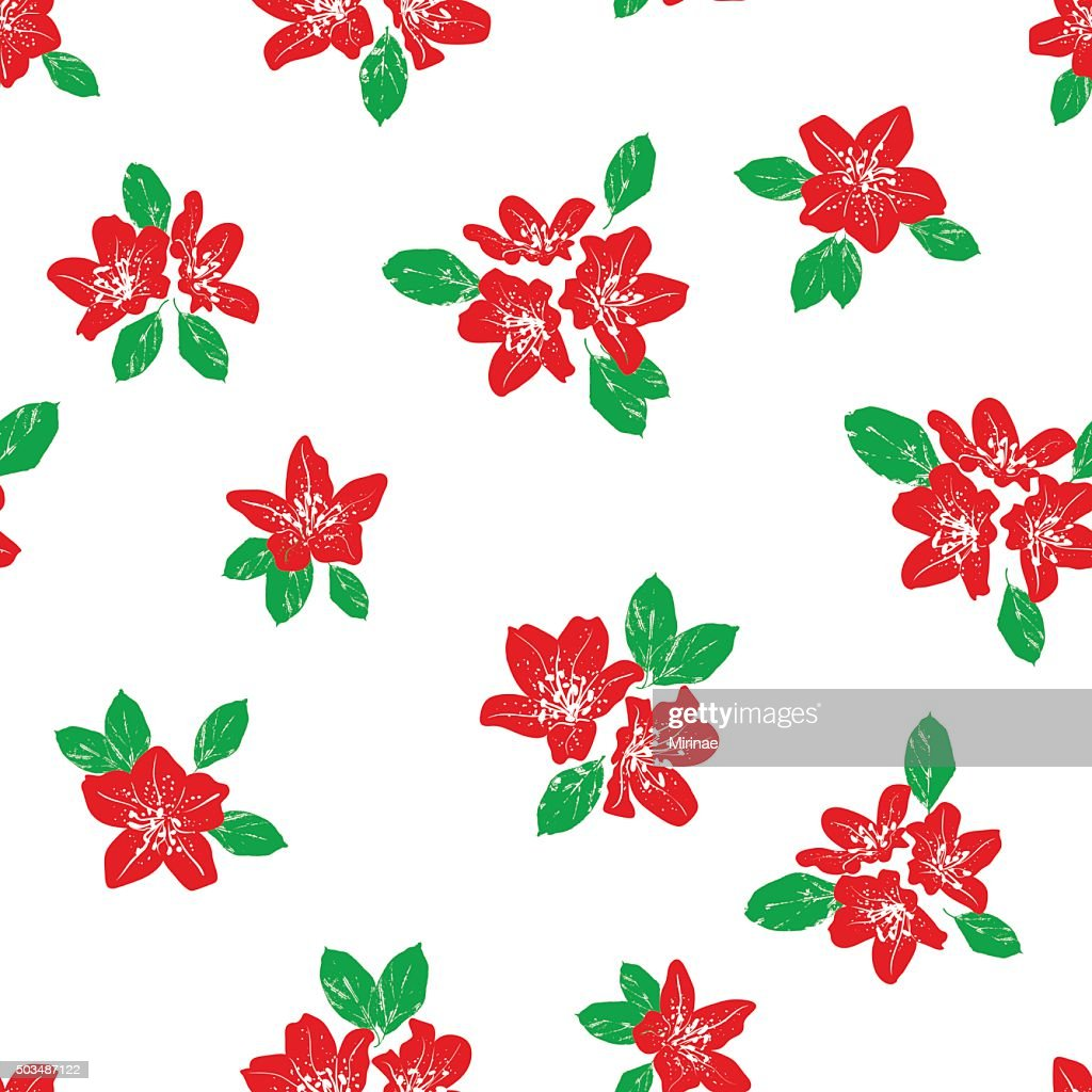Romantic floral seamless pattern. Vector