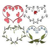 romantic frame Valentines doodle