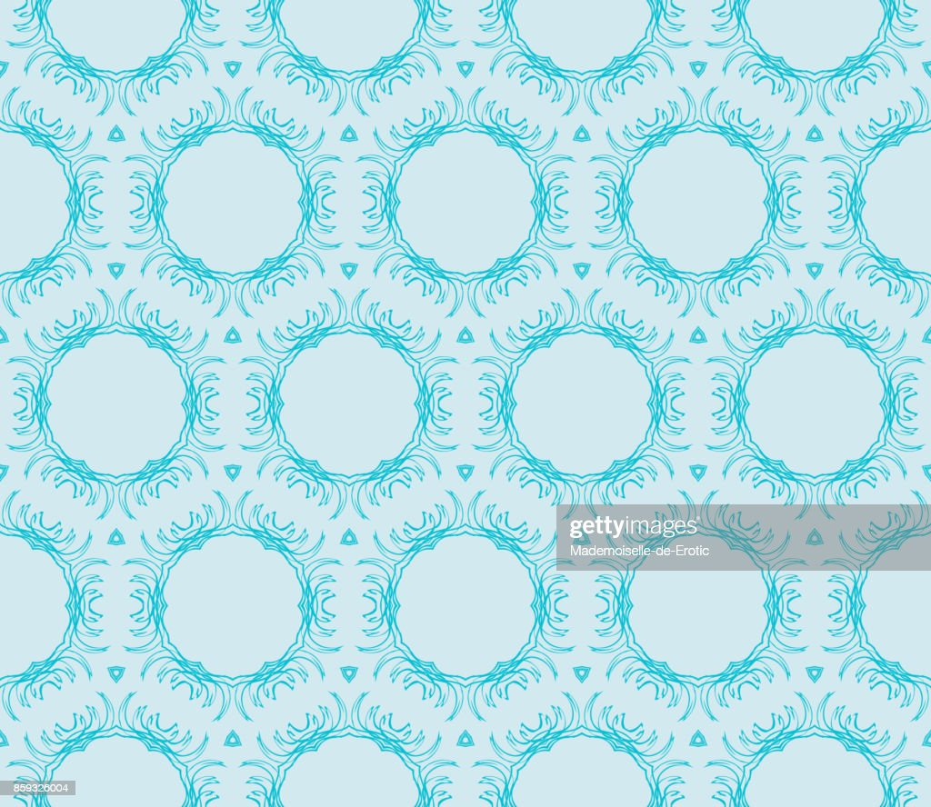 Romantic Geometric Floral Seamless Pattern Vector Illustration For ...