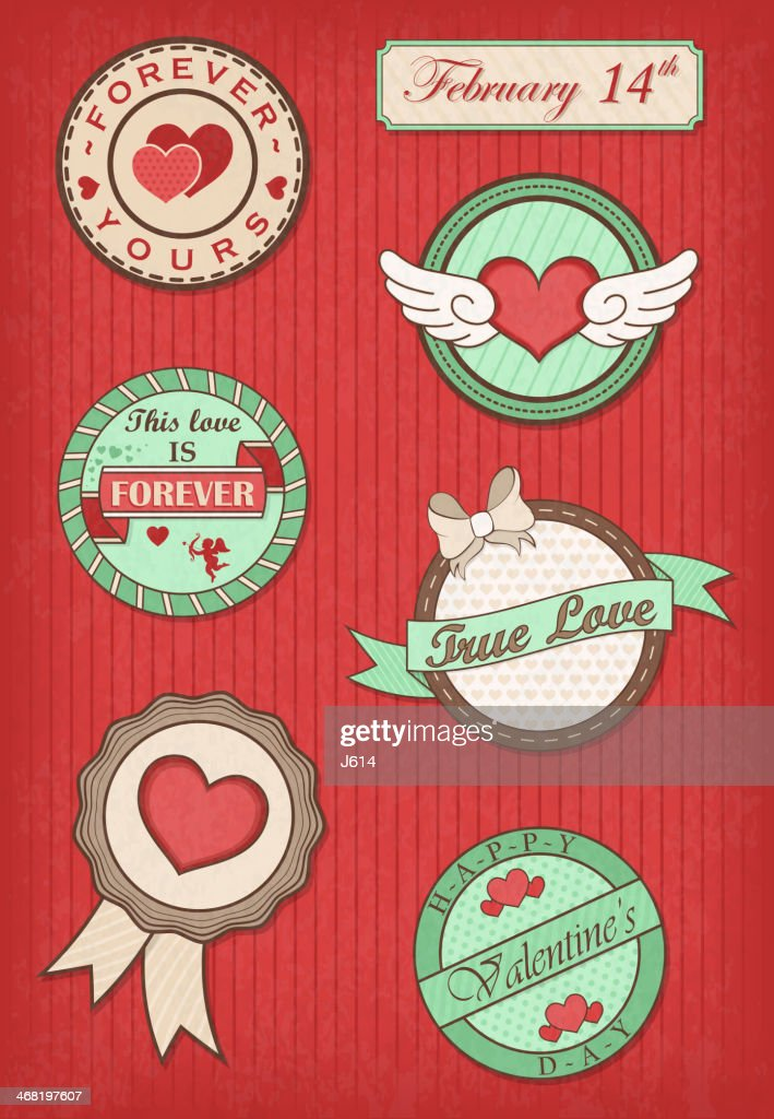 Romantic label set