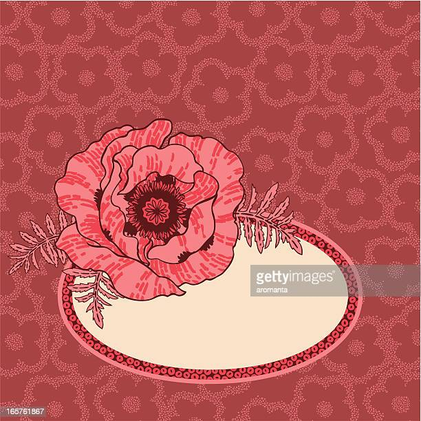 romantic poppy - oriental poppy stock illustrations, clip art, cartoons, & icons