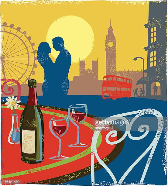Romantic scene - London