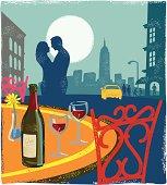 Romantic scene - New York