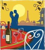 Romantic scene - Paris