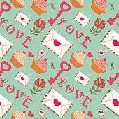 Romantic seamless Valentine's Day pattern.