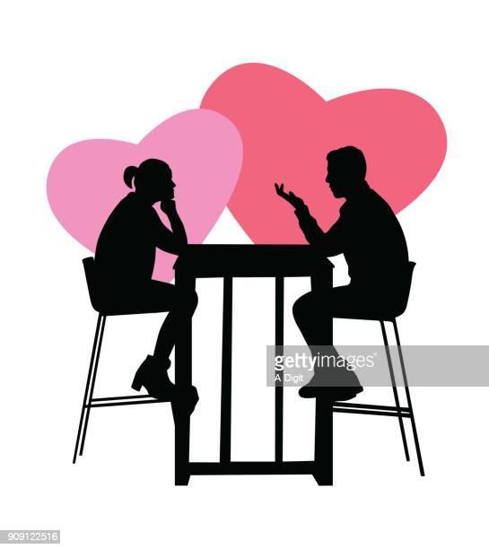 romantic valentines dinner - boyfriend stock illustrations, clip art, cartoons, & icons