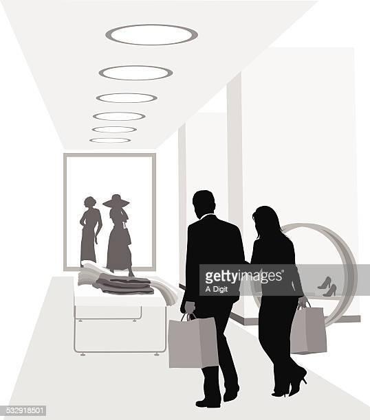 ilustraciones, imágenes clip art, dibujos animados e iconos de stock de romanticshopping - boutique