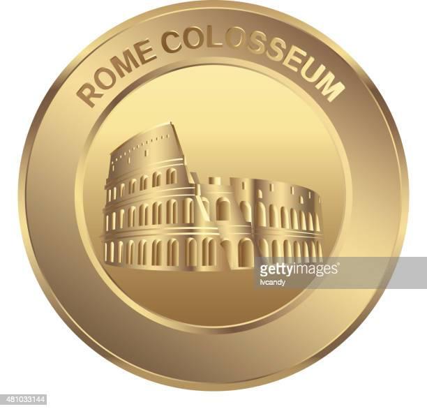 Rome colosseum coin