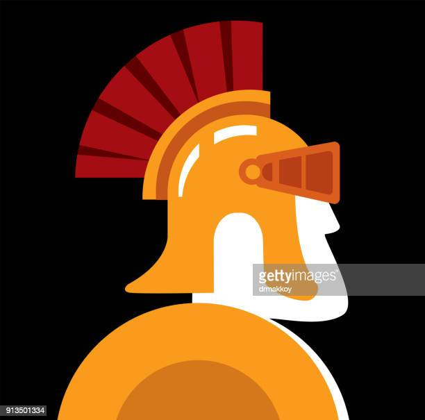 rome helmet - rome italy stock illustrations, clip art, cartoons, & icons