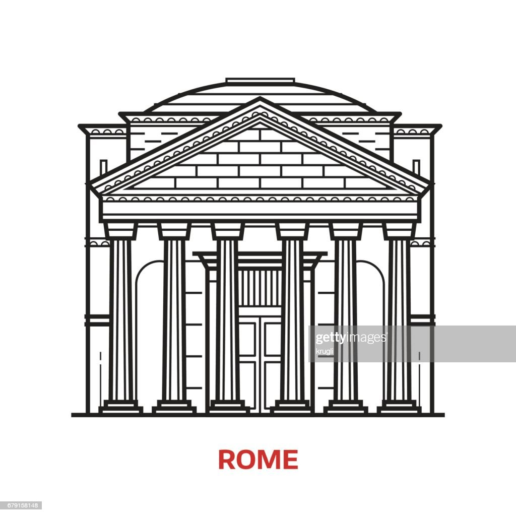 Rome Landmark Vector Illustration