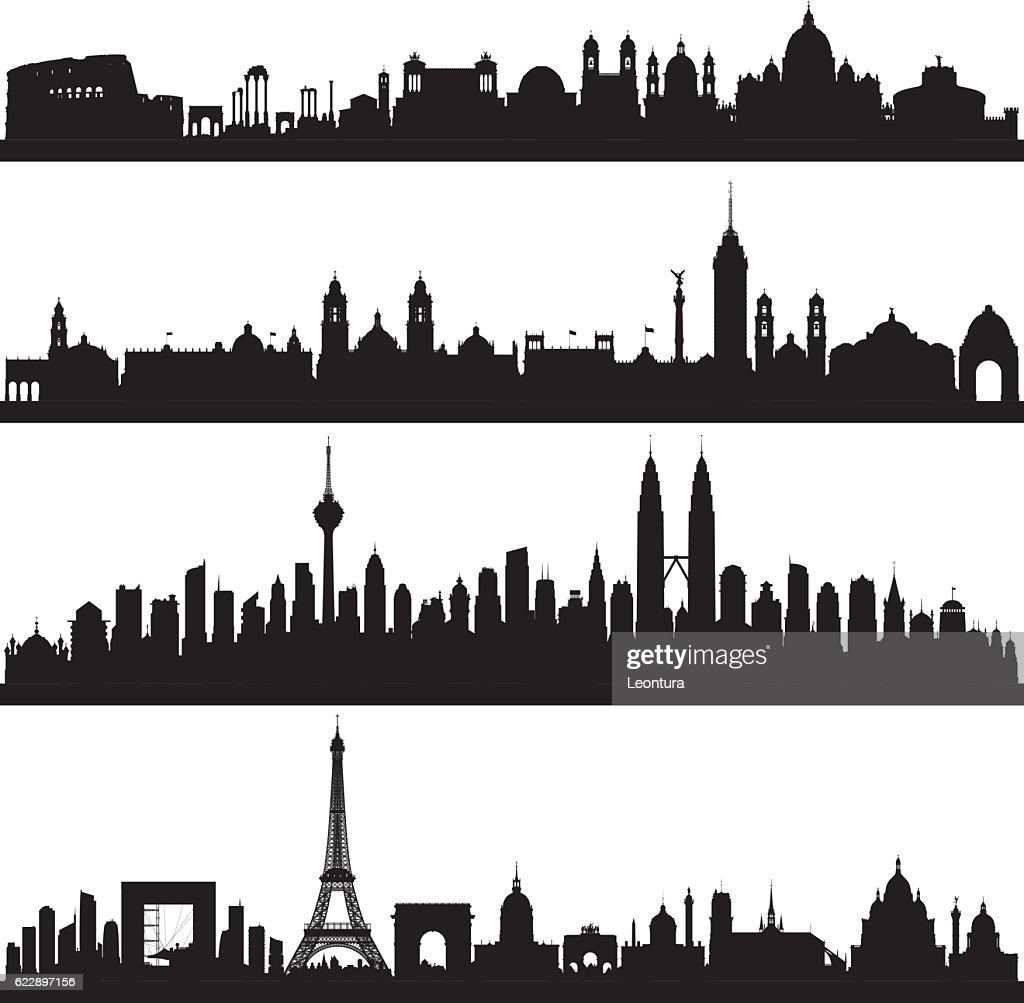Rome, Mexico City, Kuala Lumpur and Paris (Complete, Moveable Buildings)