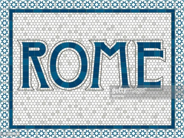 Rome Old Fashioned Mosaic Tile Typography