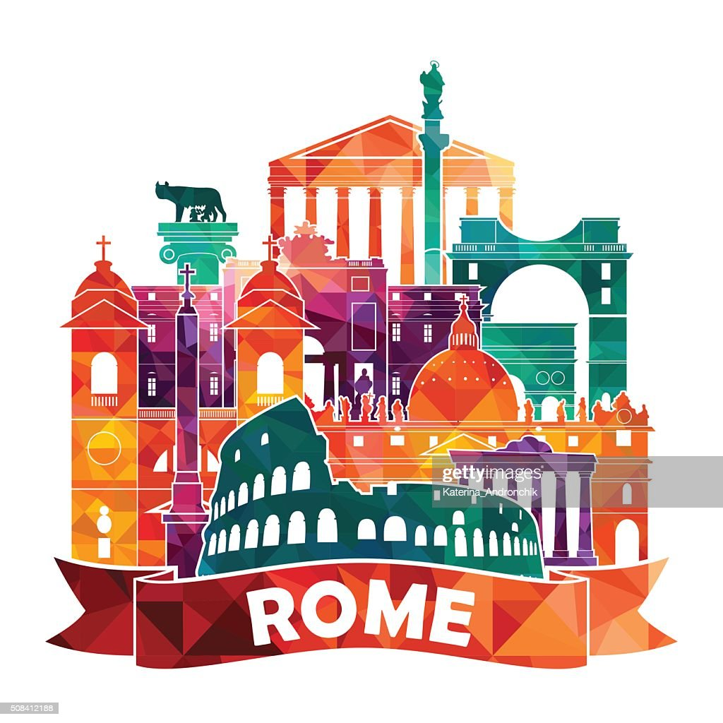 Rome skyline. Vector illustration