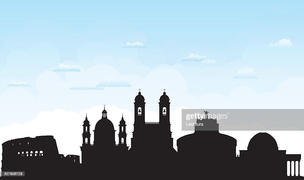 Rome (Buildings Are Detailed, Moveable and Complete) : stock illustration