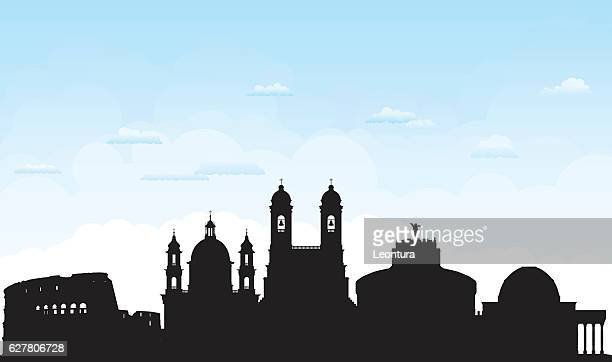 rome (buildings are detailed, moveable and complete) - castel sant'angelo stock illustrations