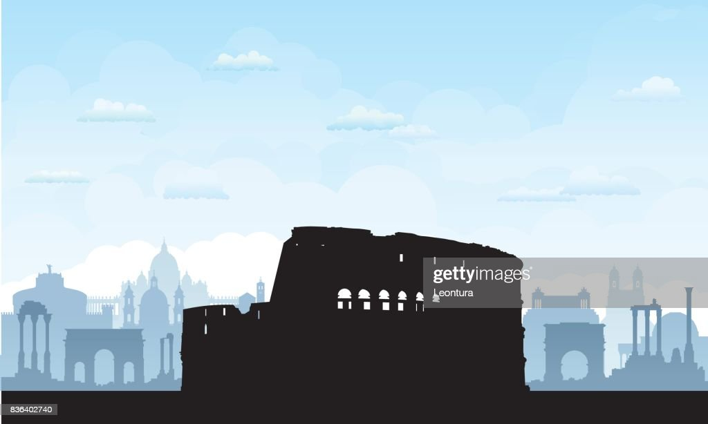 Rome (All Buildings are Separate and Complete) : stock illustration