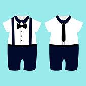Romper suit. Children's tuxedo.