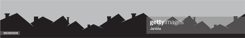 Roofs and smokestackes, cityscape