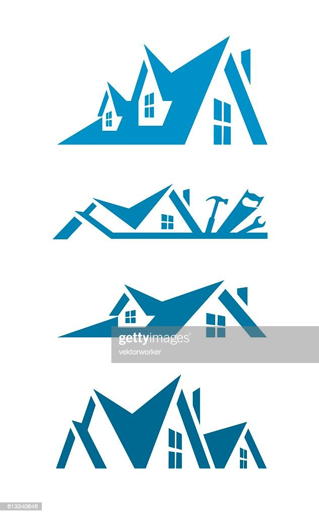 Rooftop icons for logo design