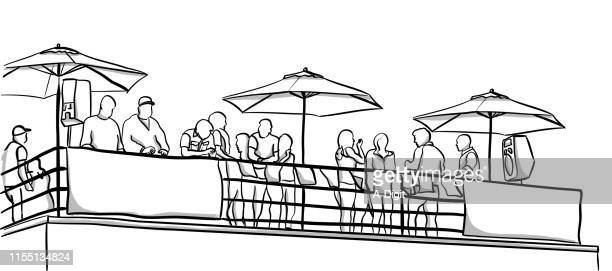 rooftop party - party social event stock illustrations